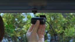 後方カメラ付き 高画質ドライブレコーダー 後方カメラはリアガラスの上に貼り付けて配線すればOK!