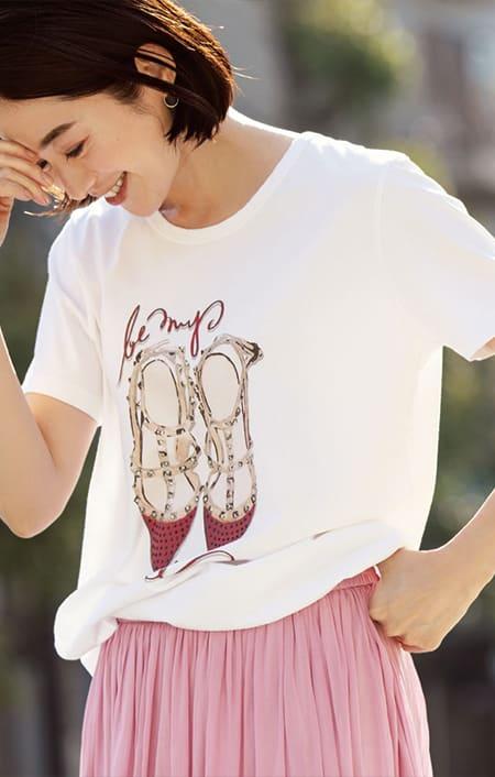 NEURONE/ネウローネ シューズ柄Tシャツ(イタリア製)のコーディネート