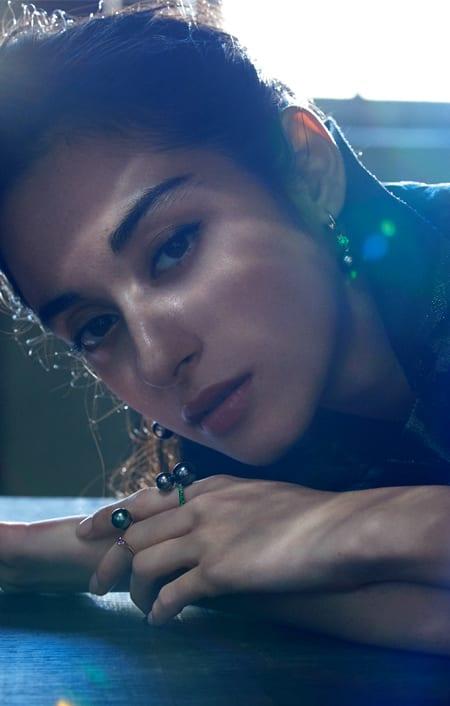 【ロードライトガーネット】 ALESSANDRA DONA/アレッサンドラ・ドナ K18PG 11.8mm黒蝶パール ツインリングのコーディネート