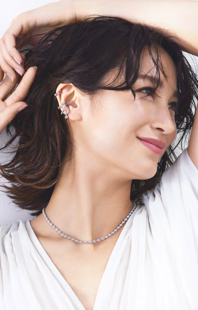 Pt 5ctフルダイヤ デザイン ネックレスのコーディネート