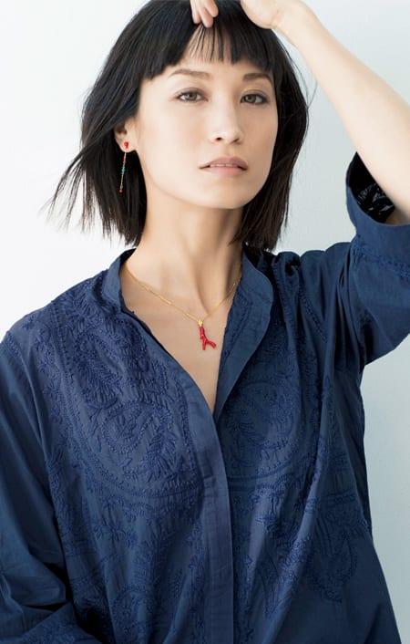 YUKIKO OKURA/ユキコ・オオクラ K18 血赤枝珊瑚 ペンダントトップのコーディネート