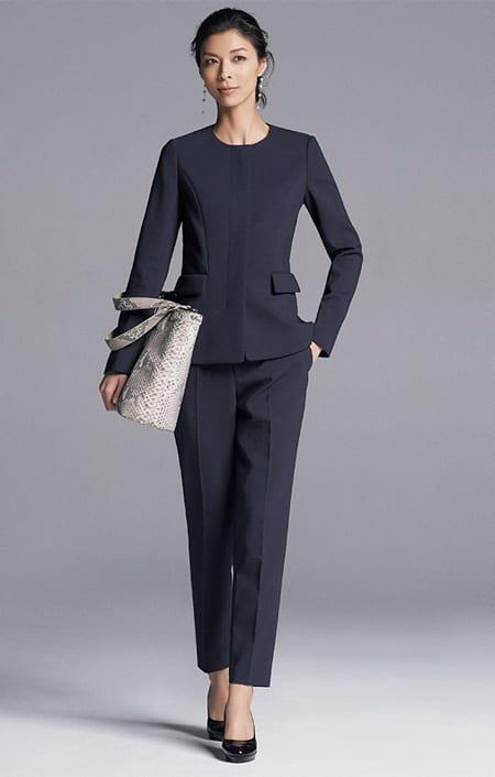 【股下丈63cm】 ストレッチ ダブルクロス スーツセット(ジャケット+パンツ)のコーディネート