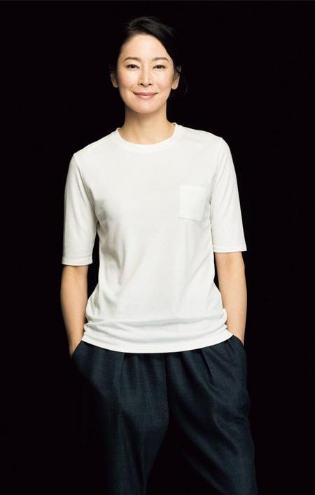 「フレスカ」 コットンスムース クルーネック Tシャツのコーディネート