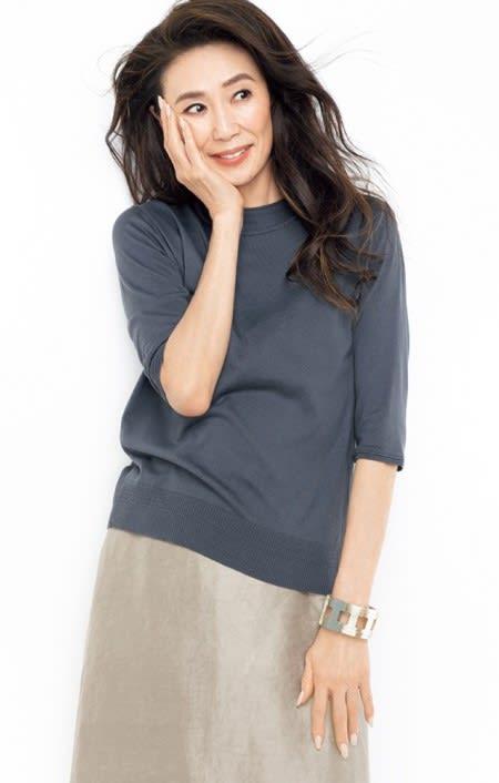 MAYUCA(R) シルクニット Tシャツのコーディネート