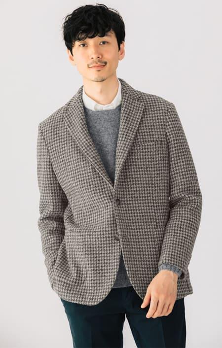 「Harris Tweed」 ウールジャケットのコーディネート