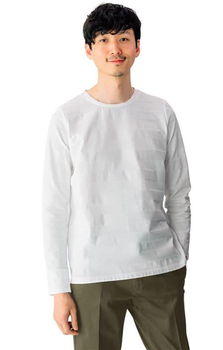 リンクス編み長袖Tシャツのコーディネート