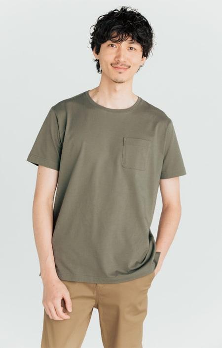 「i cotoni di ALBINI」 超長綿ドレスTシャツシリーズ クルーネックのコーディネート
