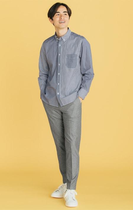 クレイジーパターンシャツのコーディネート