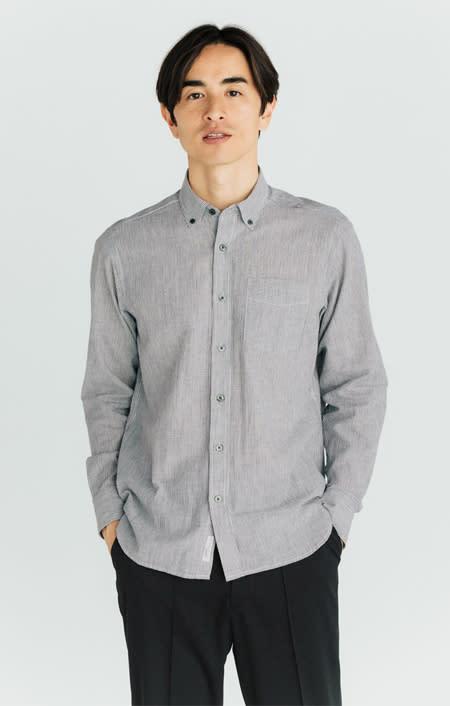 SCENE(R) 7DAYS ジャパンメイドシャツシリーズ 綿麻ストライプのコーディネート
